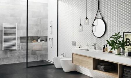Skandynawski styl nowoczesnej łazienki