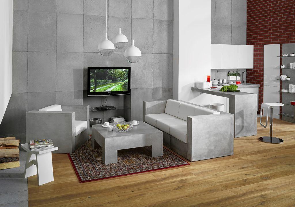 Meble z betonu, czyli minimalistyczne rozwiązanie