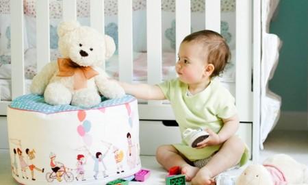 Pufa w dziecięcym pokoju