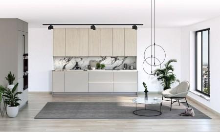 Nowe kuchnie z fornirem technicznym i powłoką Satin Surface