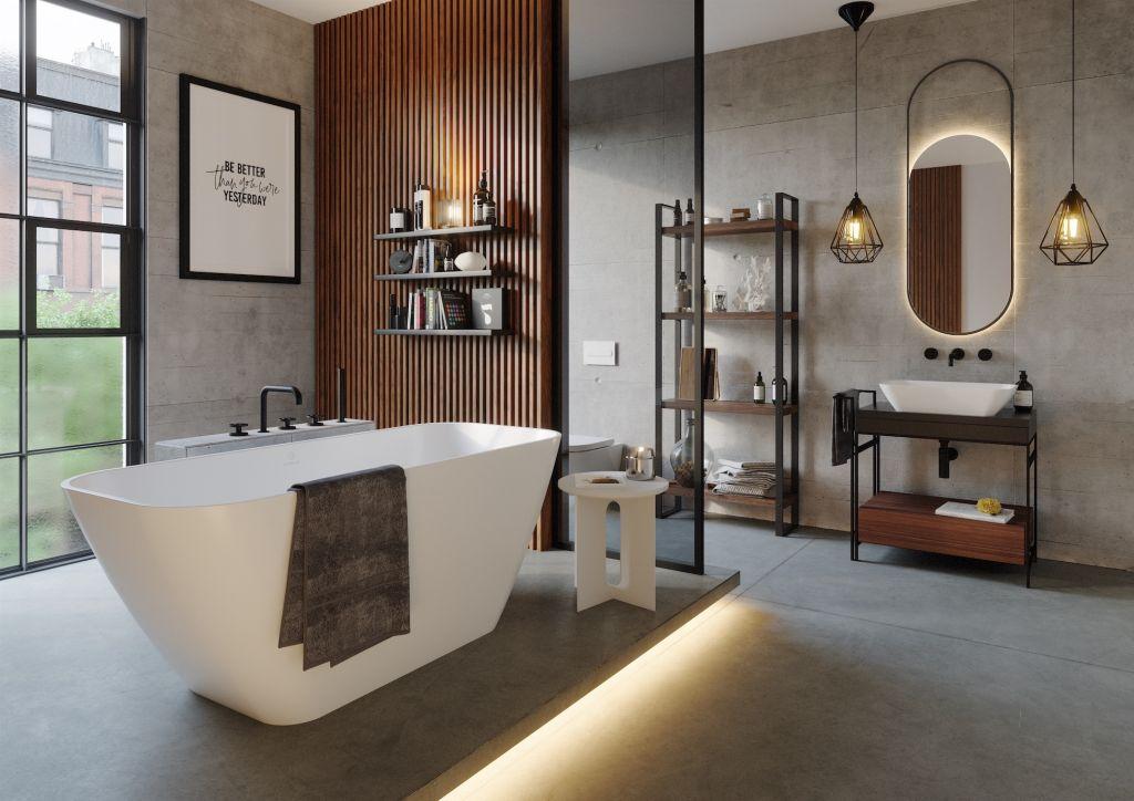 Łazienka w industrialnej ramie